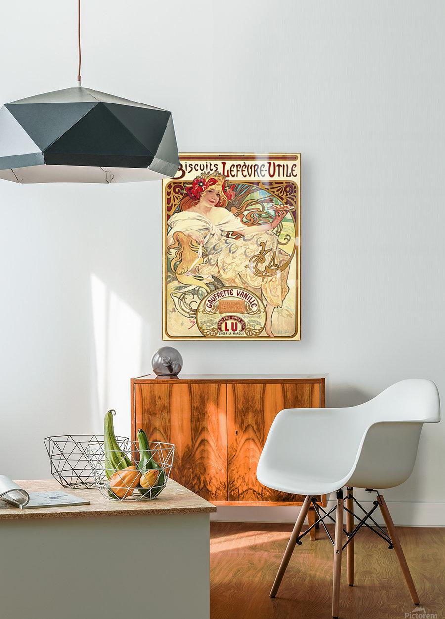 Biscuits Lefevre-Utile  HD Metal print with Floating Frame on Back