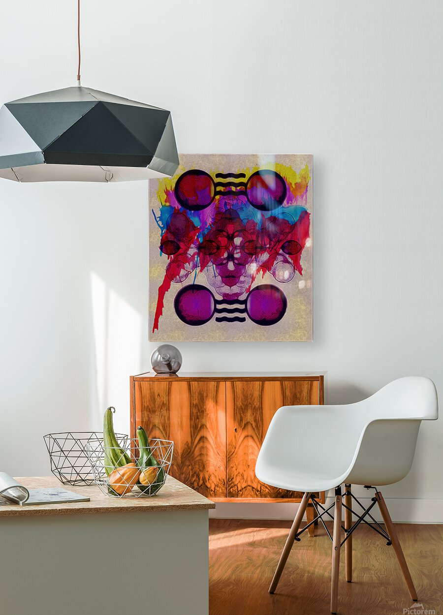 Hado Energy 19  HD Metal print with Floating Frame on Back