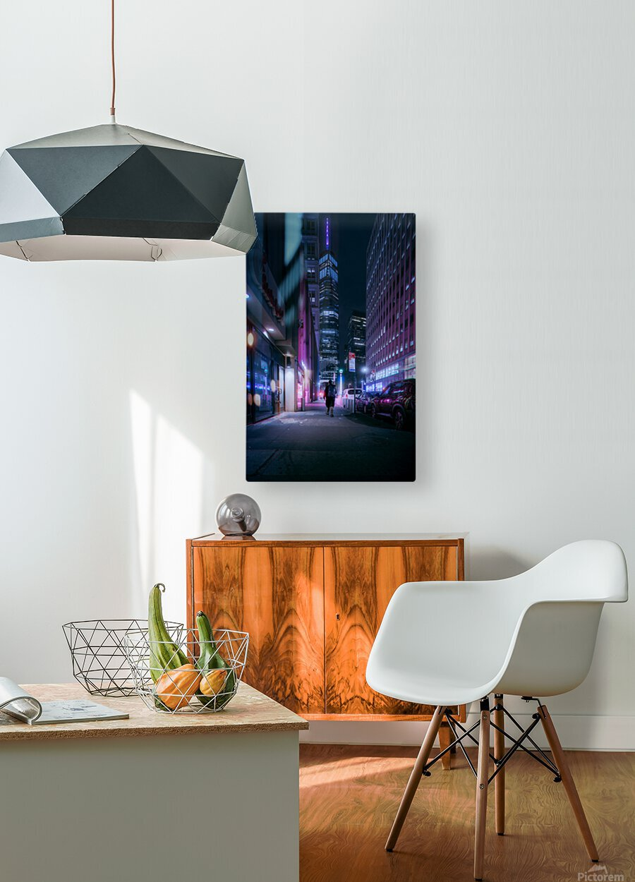Beacon In The Night  HD Metal print with Floating Frame on Back
