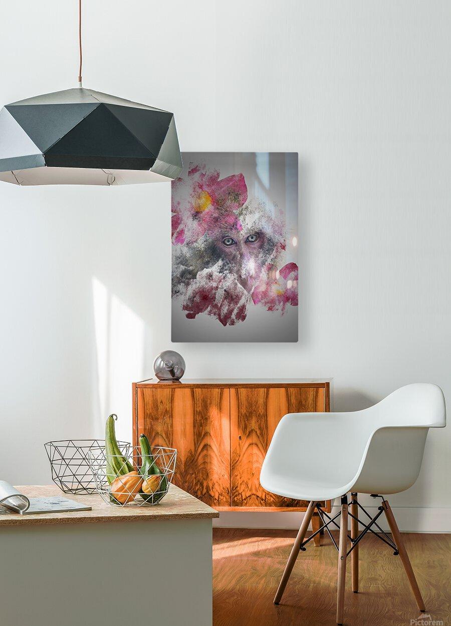 Singe  HD Metal print with Floating Frame on Back