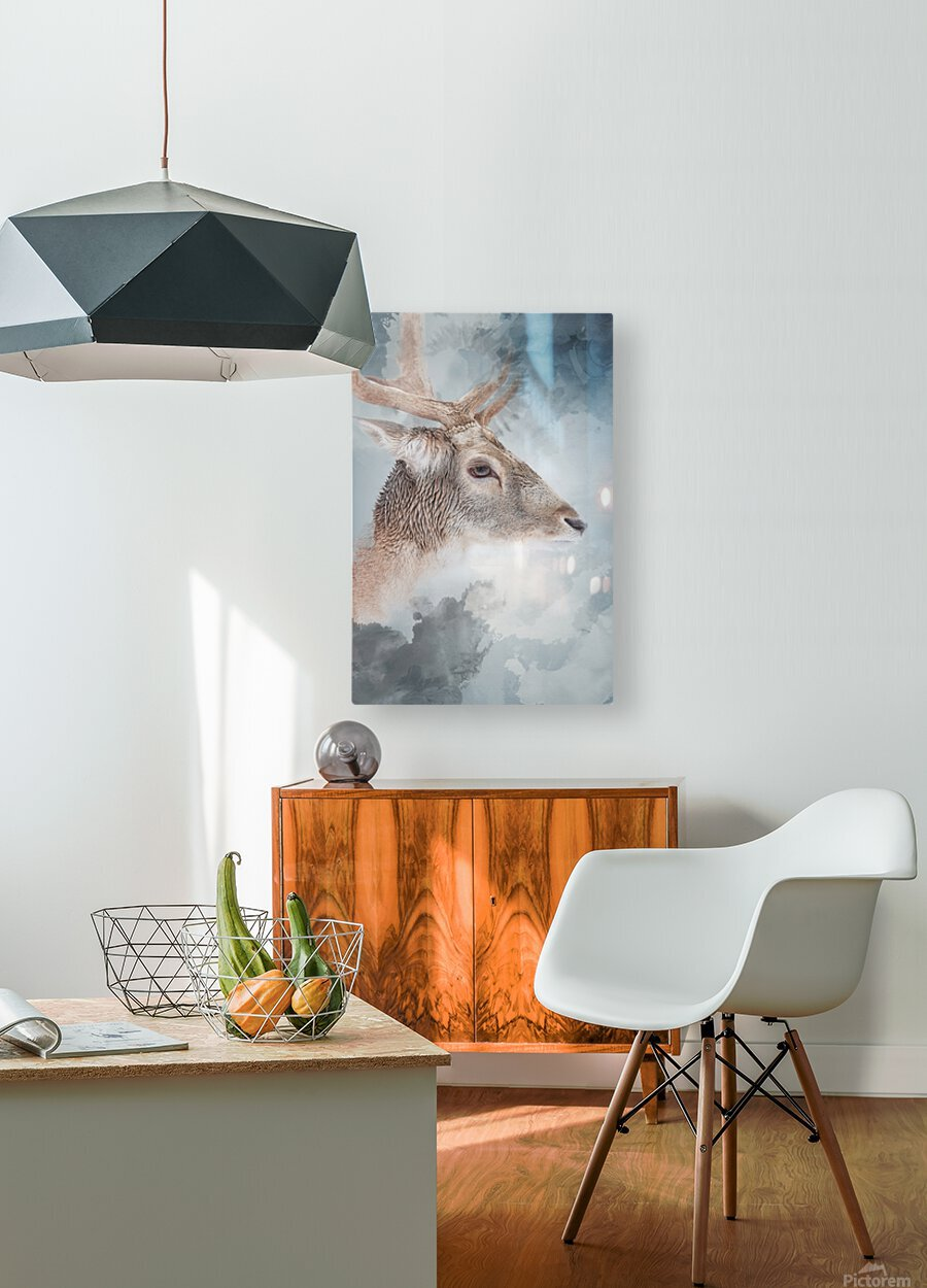 Cerf   HD Metal print with Floating Frame on Back