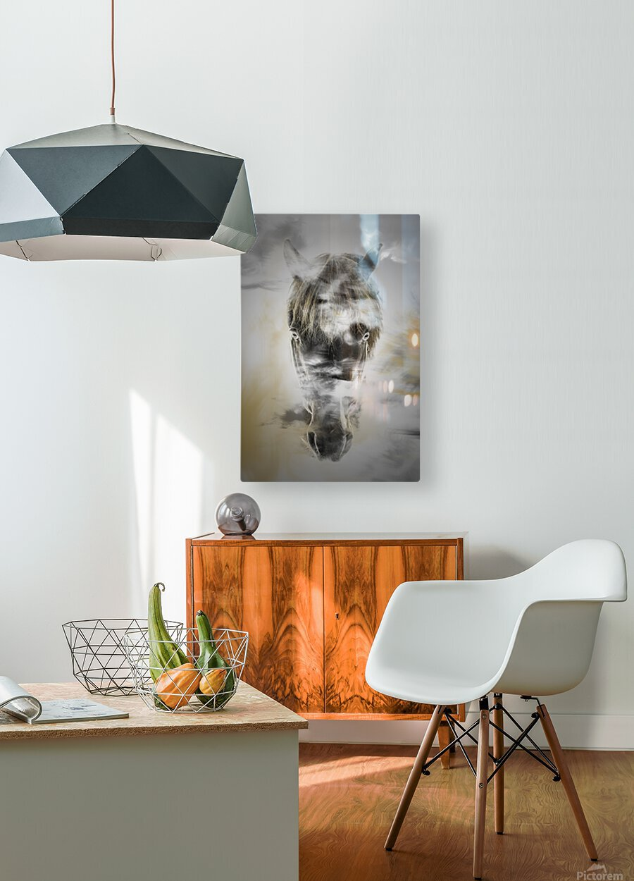 Cheval  HD Metal print with Floating Frame on Back
