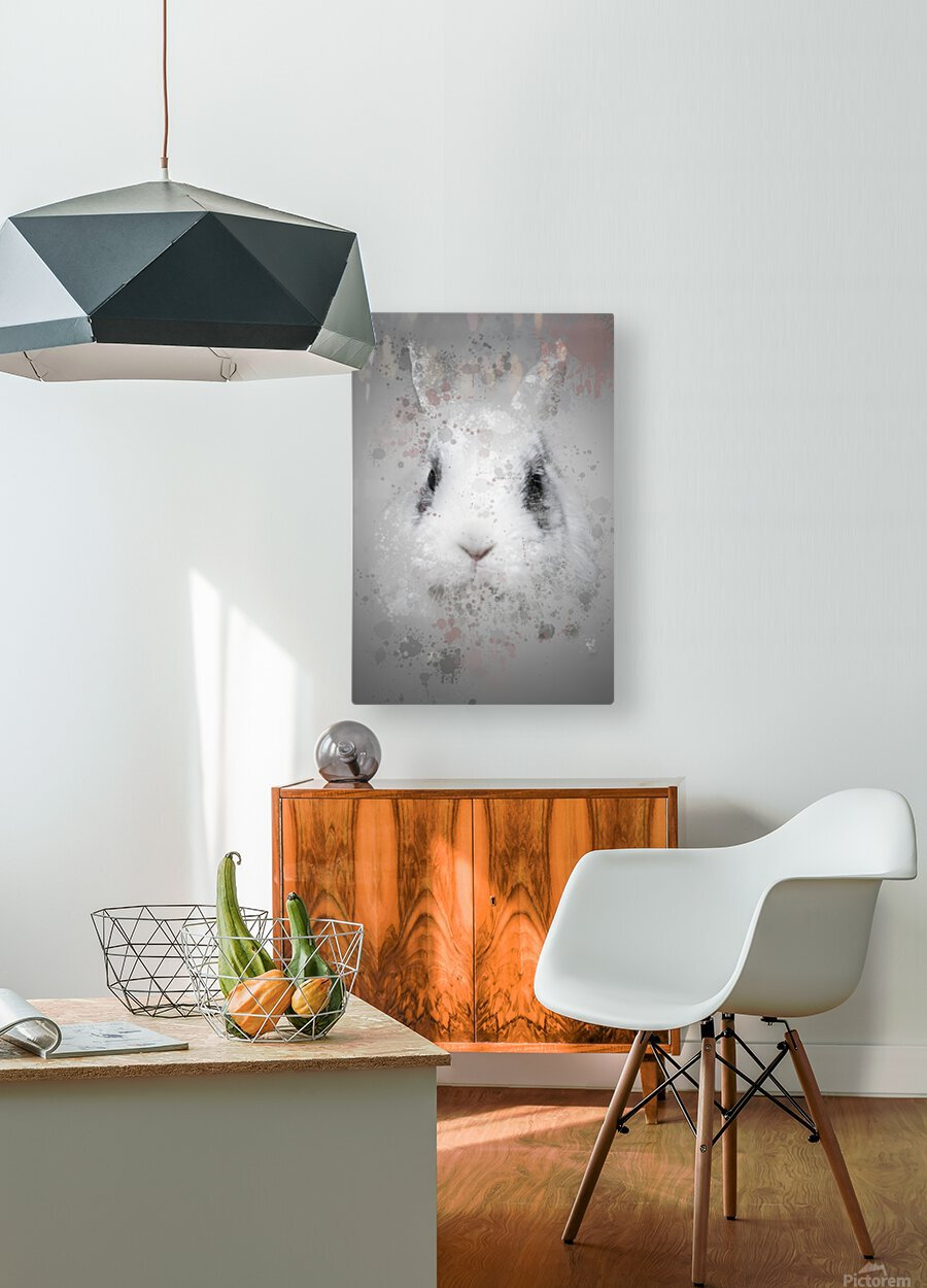 Lapin  HD Metal print with Floating Frame on Back