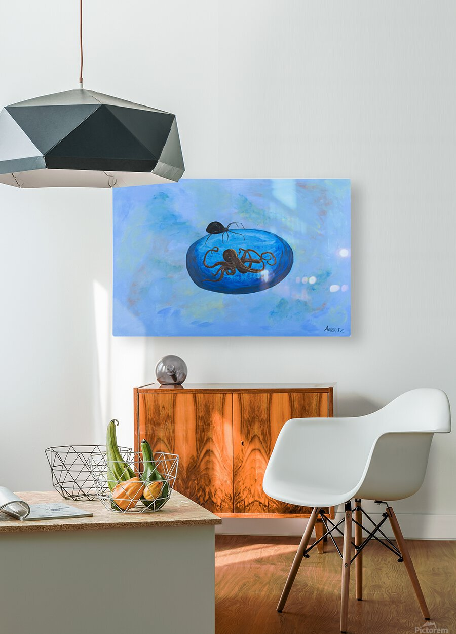 Patient Expansion  HD Metal print with Floating Frame on Back