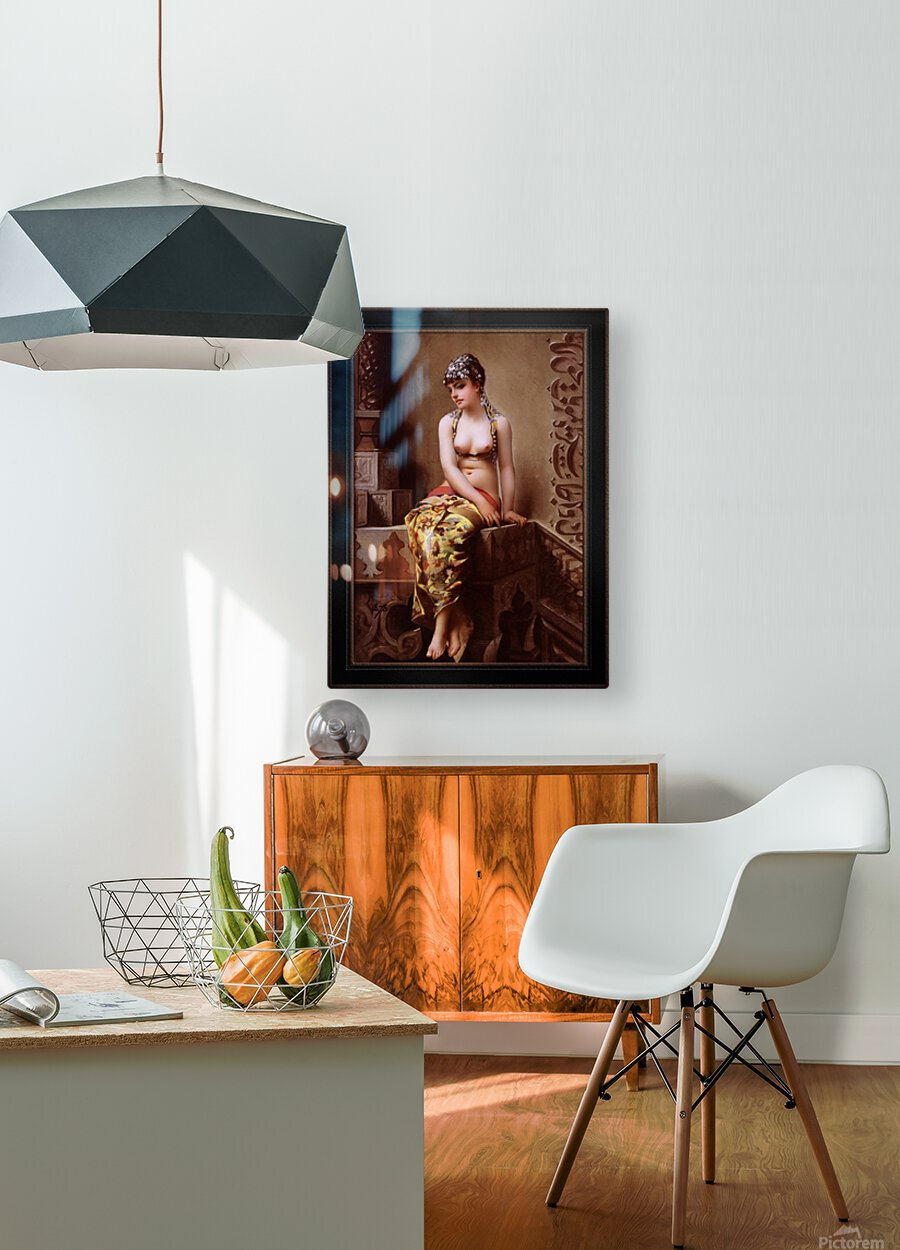 Enchantress by Luis Ricardo Falero Classical Art Xzendor7 Old Masters Reproductions  HD Metal print with Floating Frame on Back
