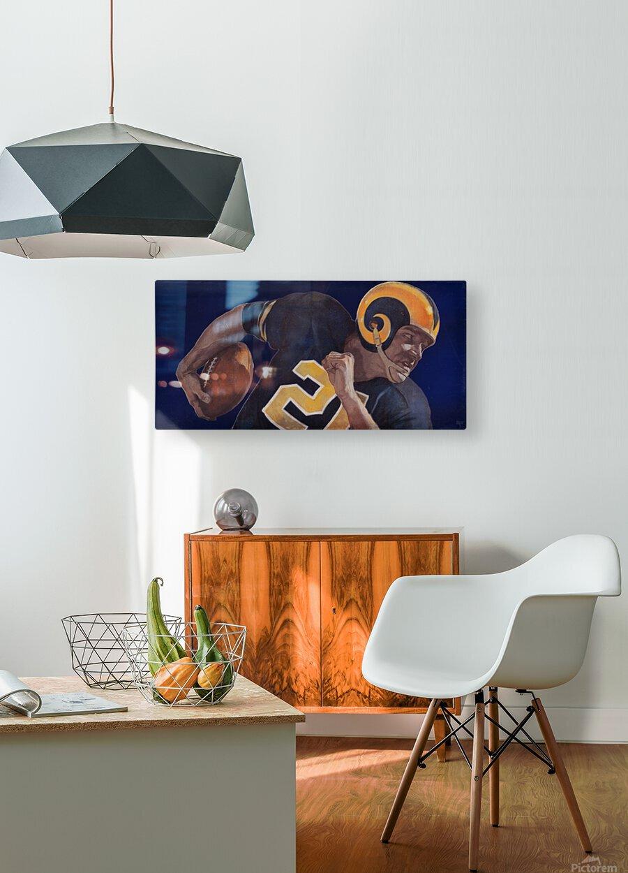 1959 LA Rams Vintage Football Art  HD Metal print with Floating Frame on Back