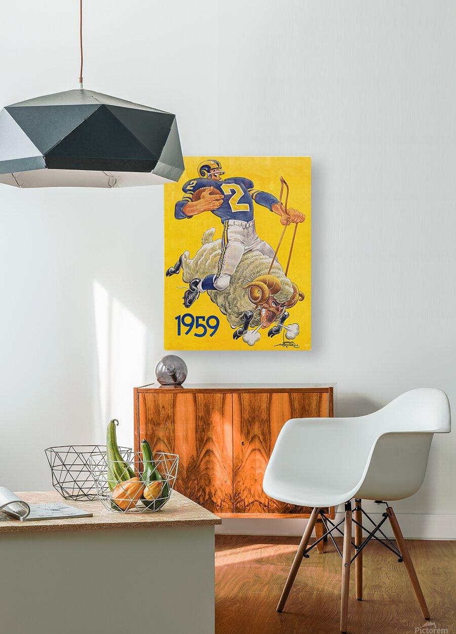 1959 LA Rams Karl Hubenthal Art  HD Metal print with Floating Frame on Back