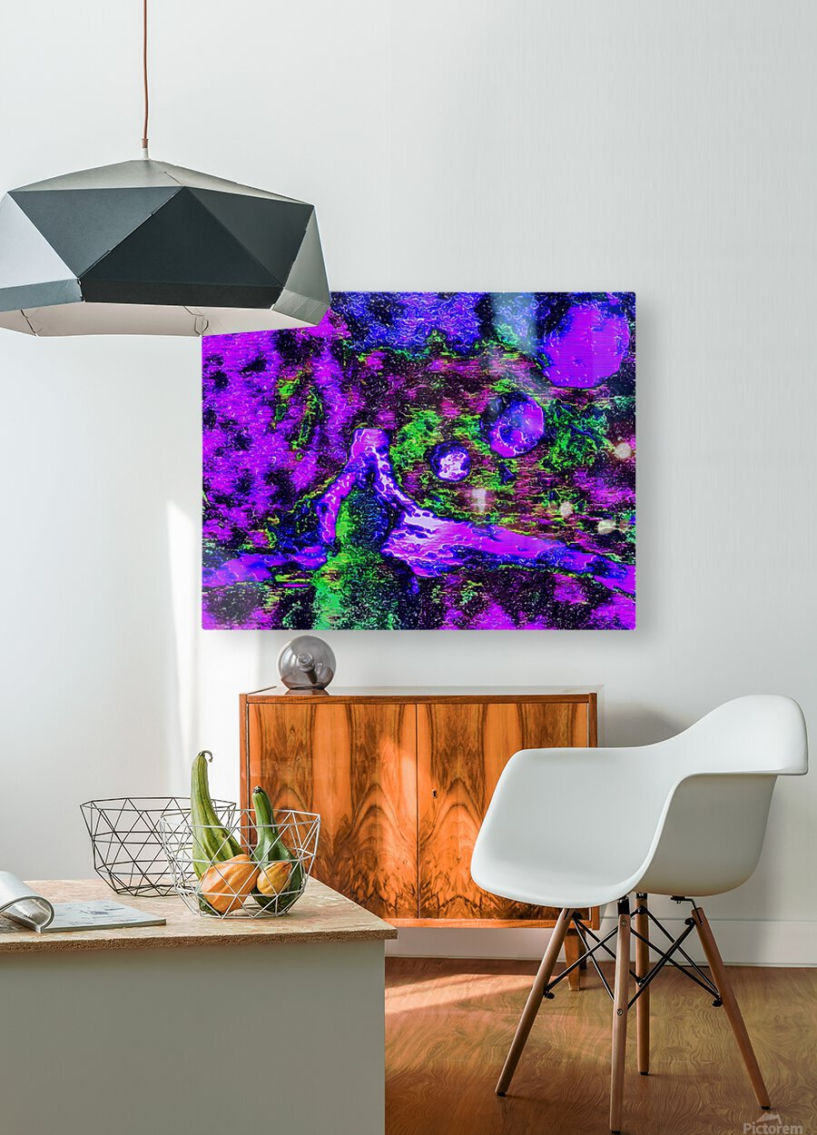 Mindfulness  HD Metal print with Floating Frame on Back
