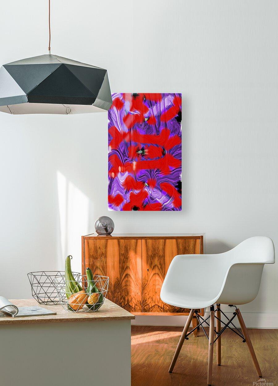 Purple Explorer  HD Metal print with Floating Frame on Back
