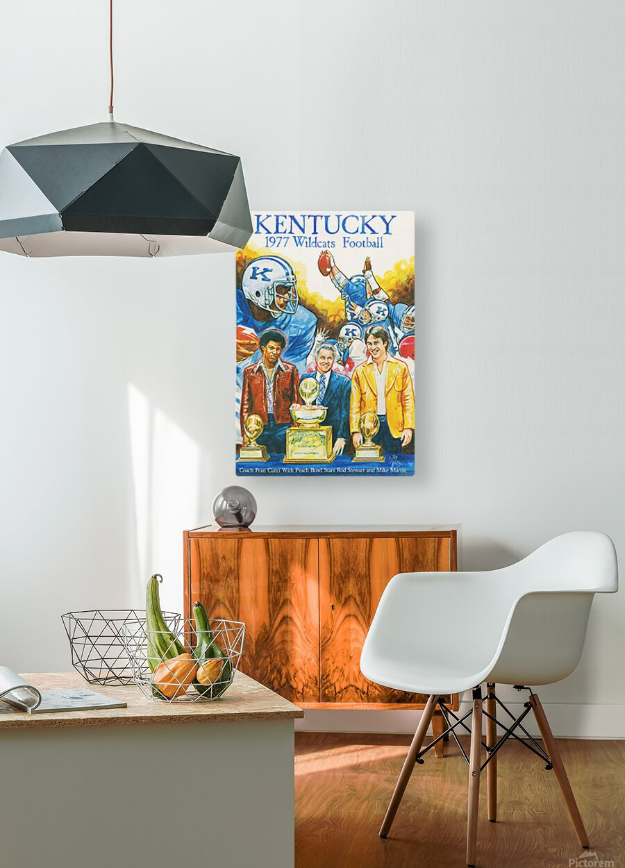 1977 Kentucky Football Poster  HD Metal print with Floating Frame on Back