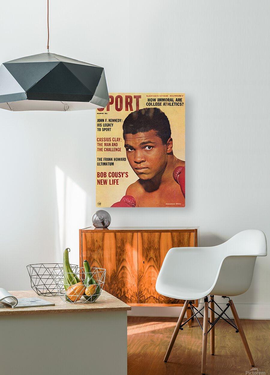 1964 Sport Magazine Muhammad Ali Cover  HD Metal print with Floating Frame on Back