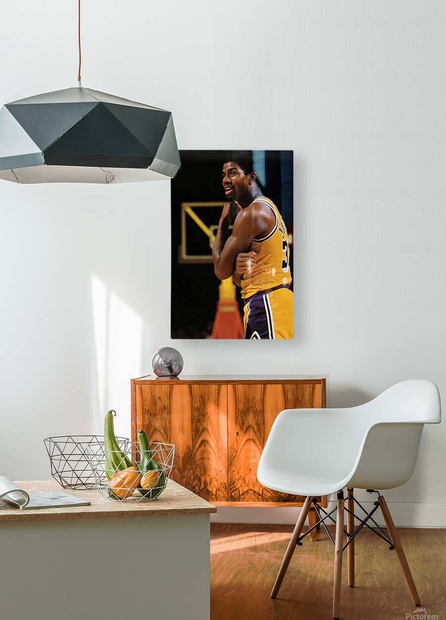 1984 Magic Johnson Row 1  HD Metal print with Floating Frame on Back