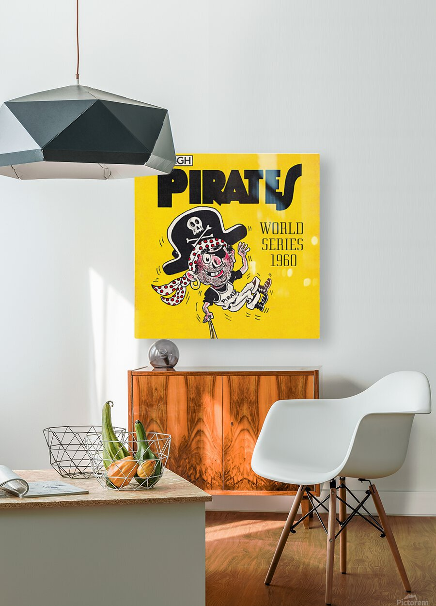 1960 Pittsburgh Pirates World Series Art  HD Metal print with Floating Frame on Back