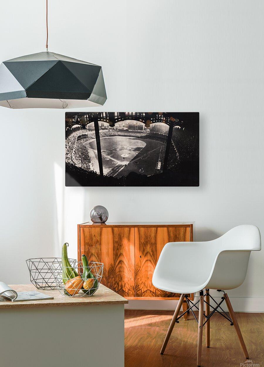 1963 Yankee Stadium Art  HD Metal print with Floating Frame on Back