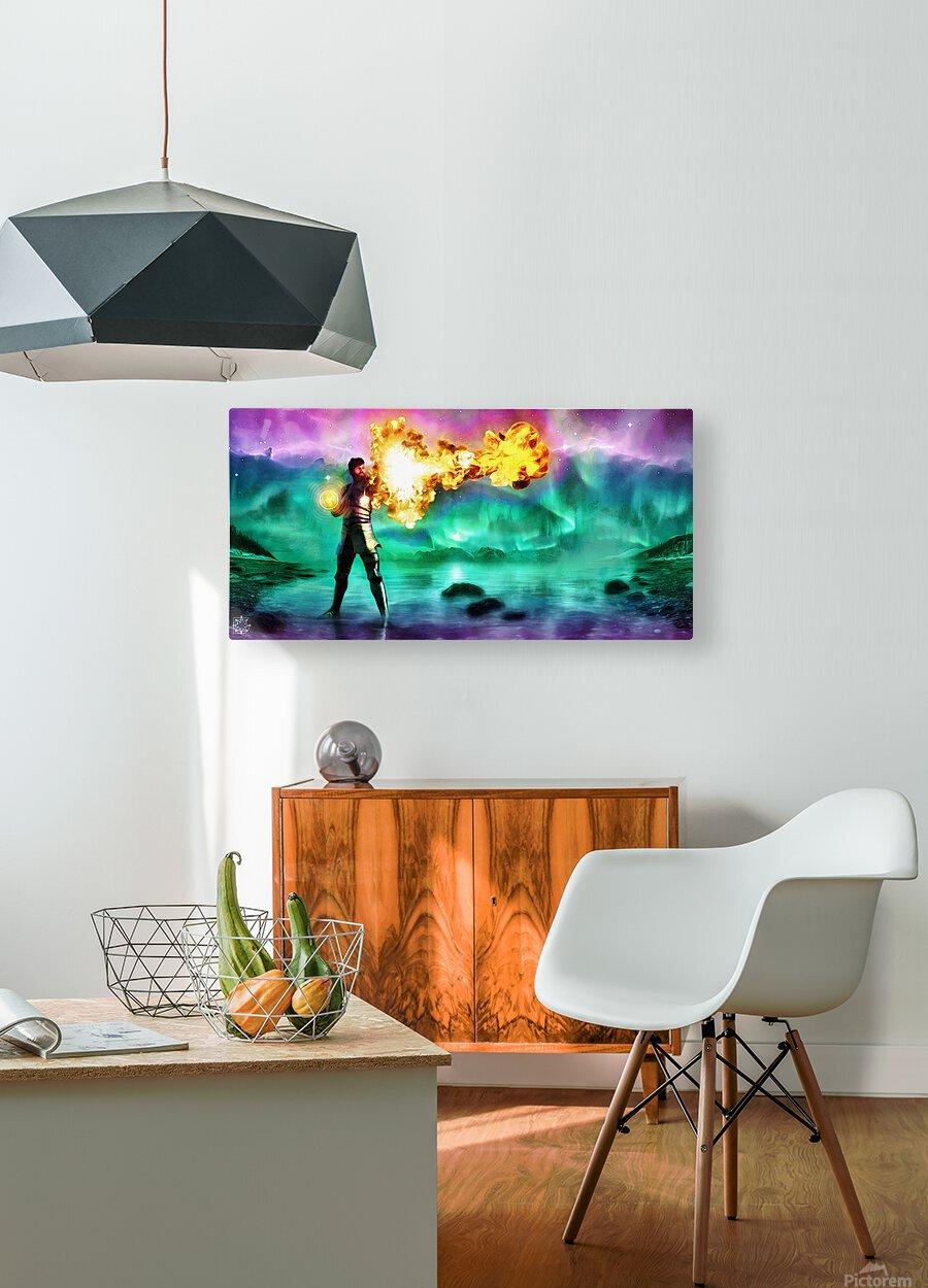 Battlemage  HD Metal print with Floating Frame on Back