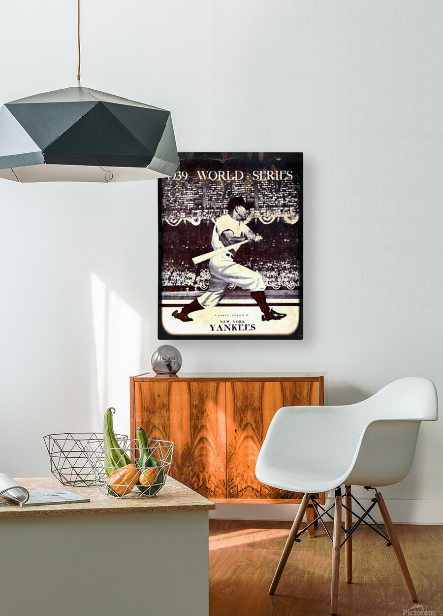 1939 Vintage World Series Program Cover Art Remix by Row 1  HD Metal print with Floating Frame on Back