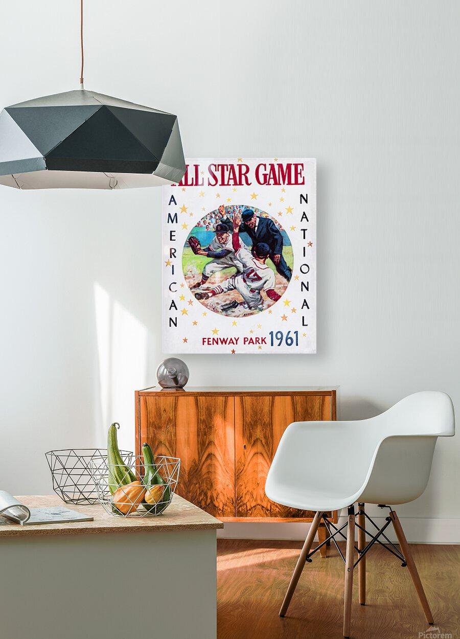 1961 Boston All-Star Game Baseball Program Art  HD Metal print with Floating Frame on Back