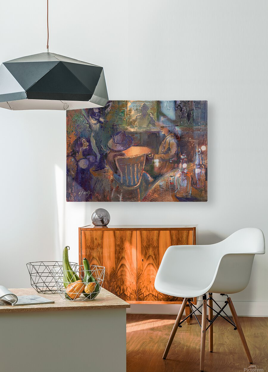 Wild West Brothel on the American Frontier  HD Metal print with Floating Frame on Back