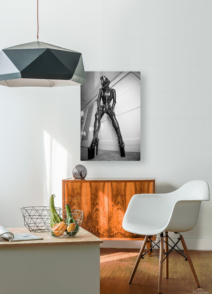 Rubber Doll MsPervology  HD Metal print with Floating Frame on Back