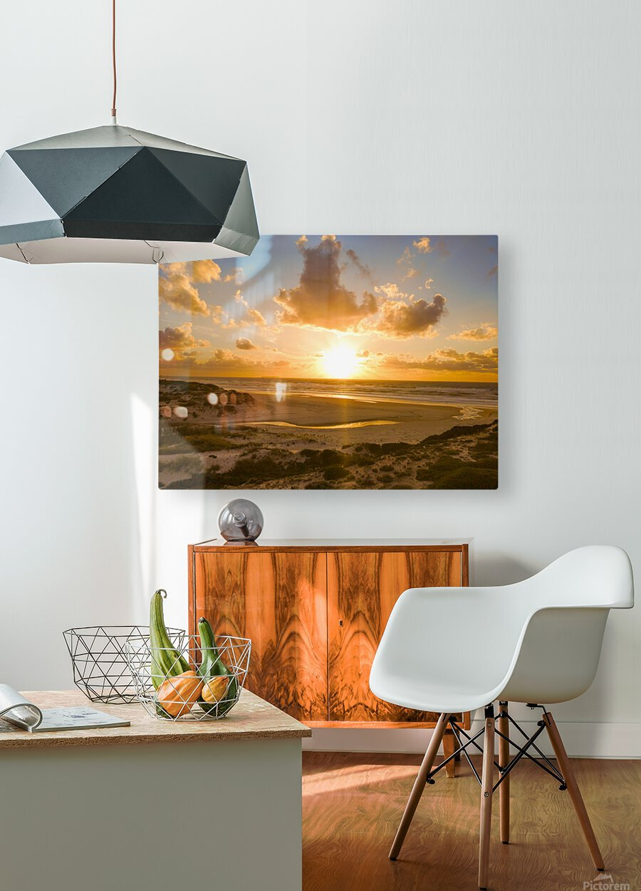 Atlantic Sunset over Praia Del Rey - Portugal  HD Metal print with Floating Frame on Back