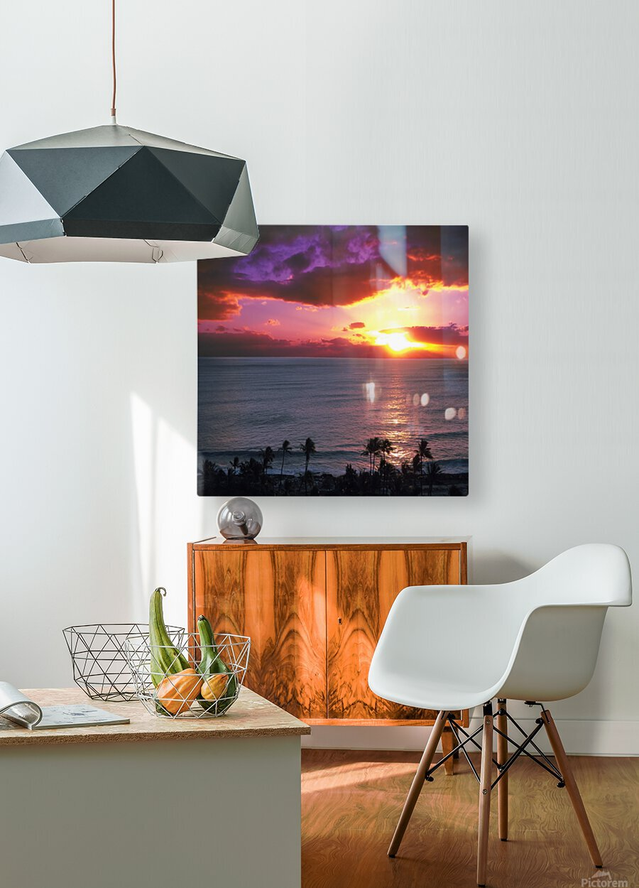 Serenity - Perfect Bliss - Sunset  HD Metal print with Floating Frame on Back
