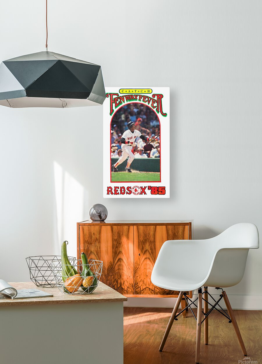 1985 Boston Red Sox Retro Poster  HD Metal print with Floating Frame on Back