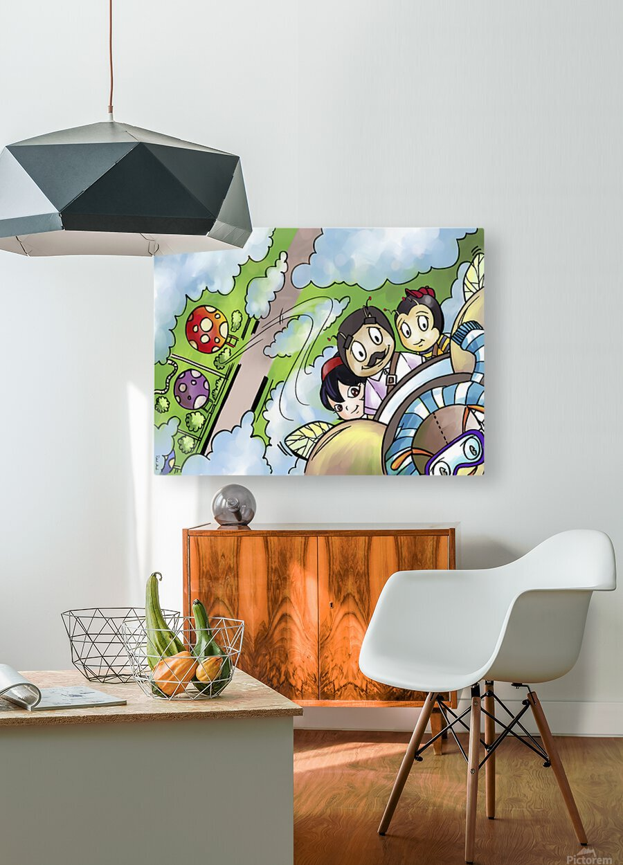 Let Your Dreams Take Flight - A Dream of Tomorrow  - Bugville Critters  HD Metal print with Floating Frame on Back