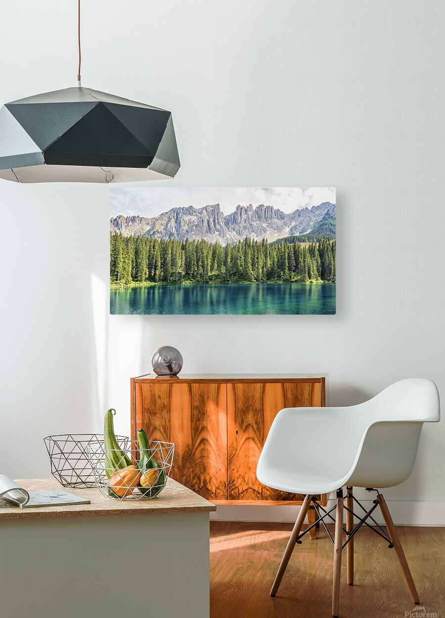 Turquoise Lake  HD Metal print with Floating Frame on Back