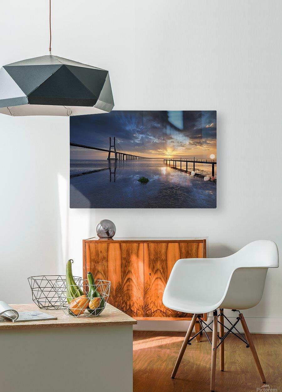P H Y S I C A L  HD Metal print with Floating Frame on Back