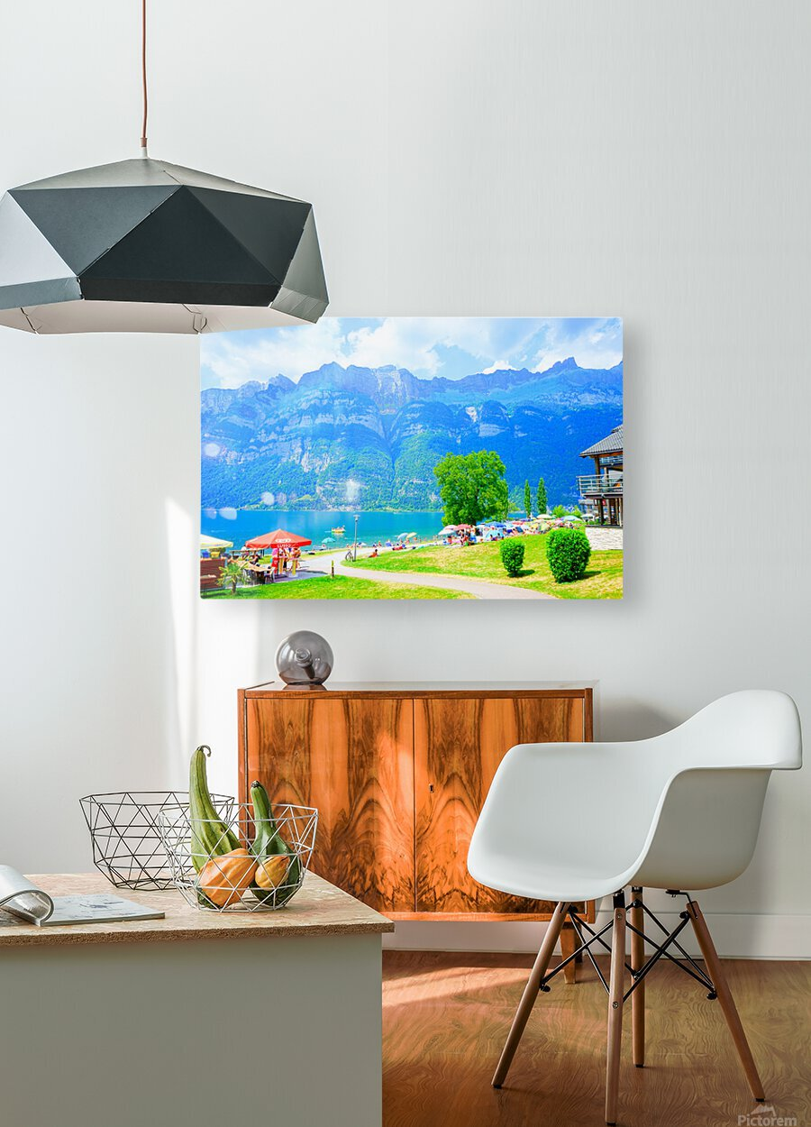 Snapshot in Time Walensee - Lake Walen Switzerland 1 of 3  HD Metal print with Floating Frame on Back