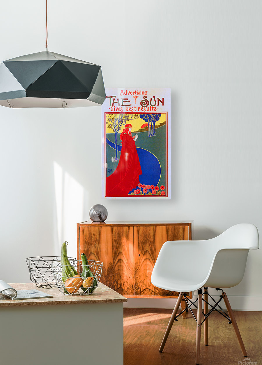 The Sun  HD Metal print with Floating Frame on Back