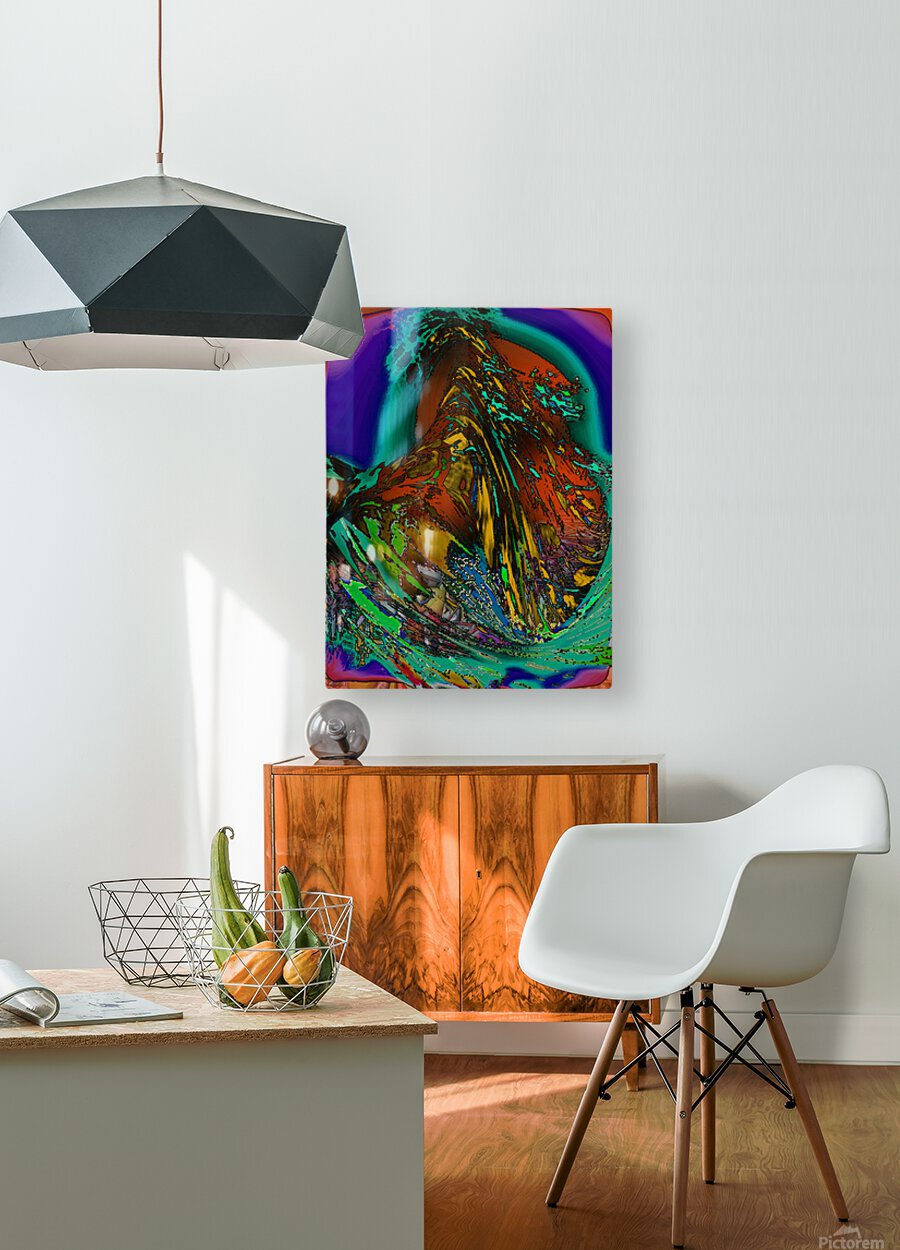 Phaldomi  HD Metal print with Floating Frame on Back