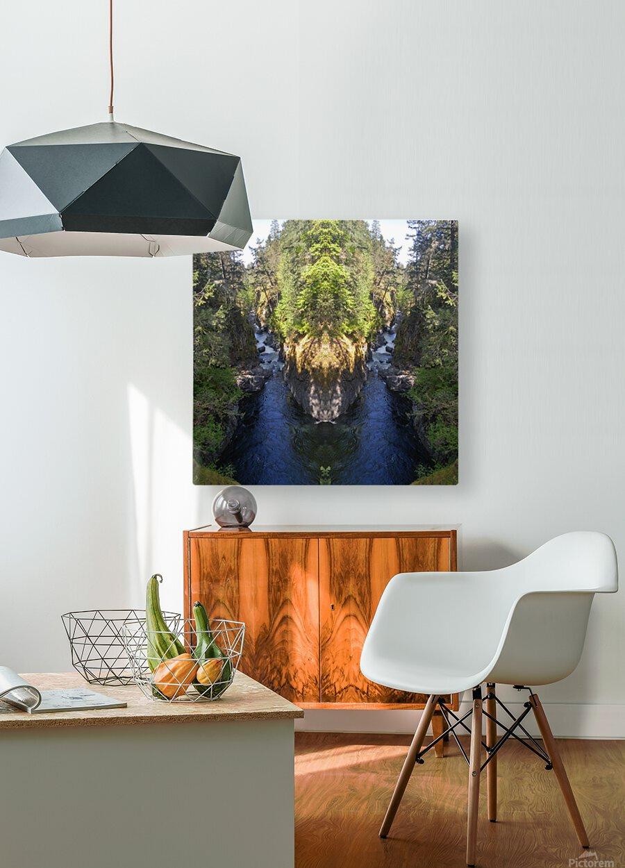 Sacred Deer  HD Metal print with Floating Frame on Back