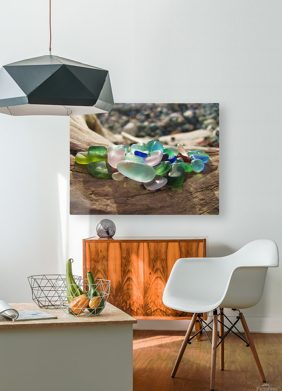 Sea Glass Colors  HD Metal print with Floating Frame on Back