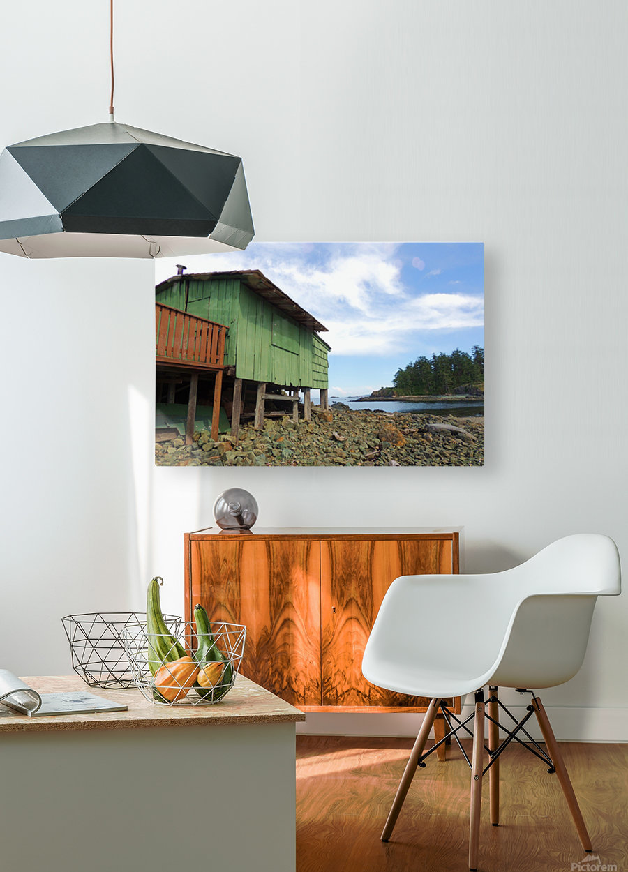 Ghost Island   HD Metal print with Floating Frame on Back