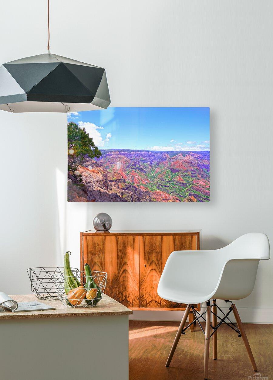 Waimea Canyon on the Island of Kauai  HD Metal print with Floating Frame on Back