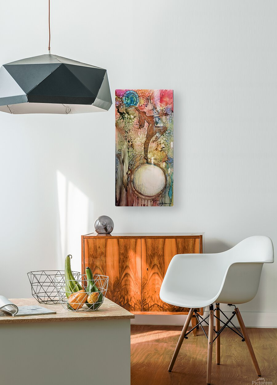 Victory Of The Light  HD Metal print with Floating Frame on Back