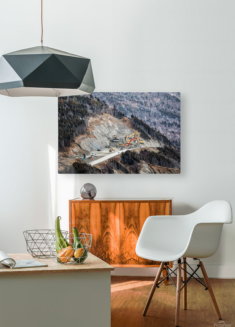 Mountain Moving  HD Metal print with Floating Frame on Back