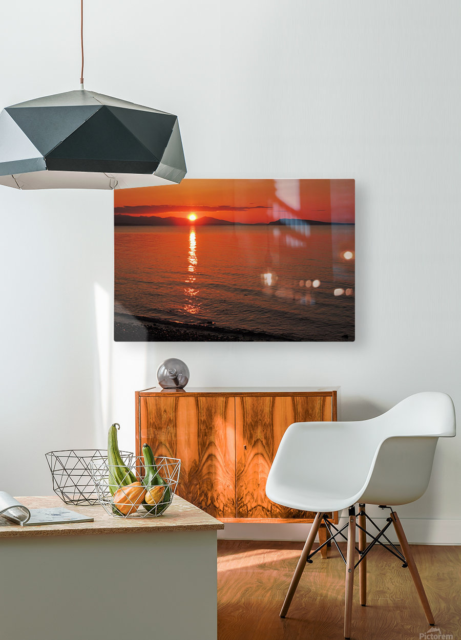 Qualicum Beach Sunset  HD Metal print with Floating Frame on Back