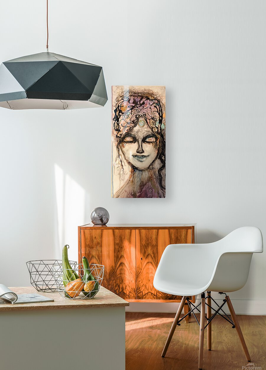 All Knowing  HD Metal print with Floating Frame on Back