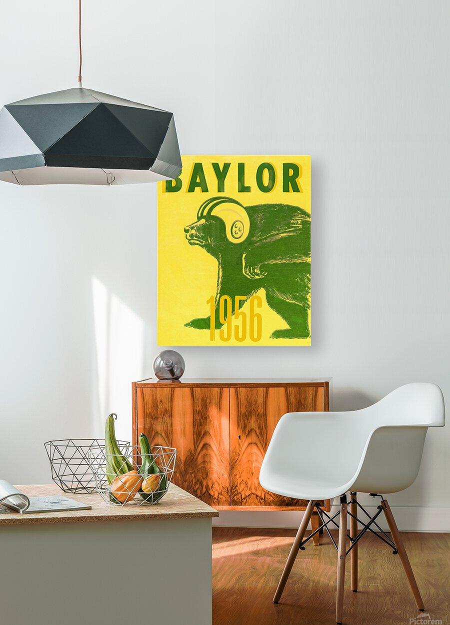 1956 Baylor Bears Vintage Football Art Remix  HD Metal print with Floating Frame on Back