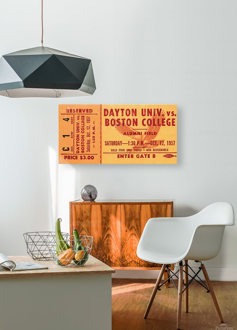 1957 Dayton Flyers vs. Boston College Eagles  HD Metal print with Floating Frame on Back