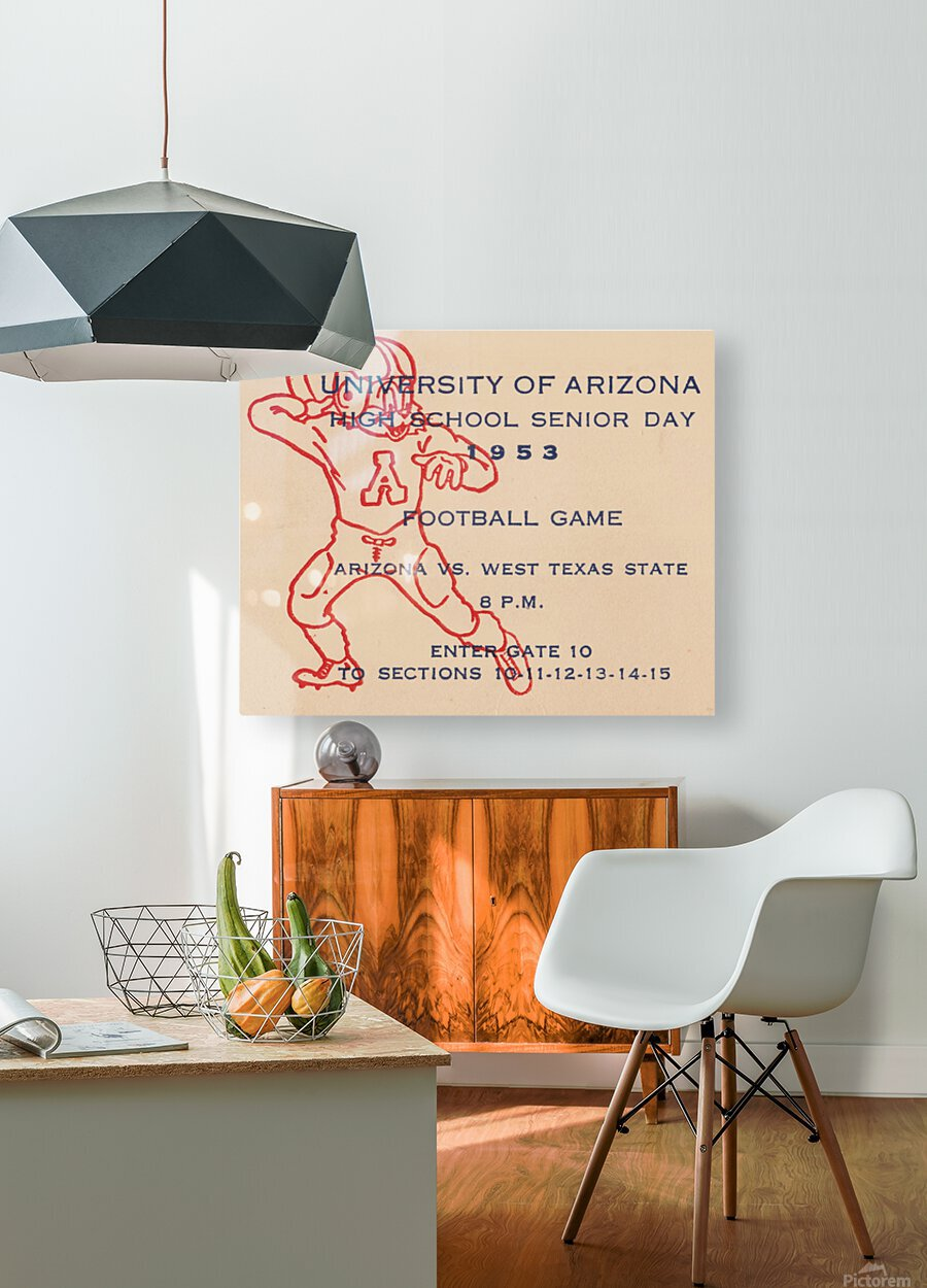 1953 Arizona Wildcats vs. West Texas State   HD Metal print with Floating Frame on Back