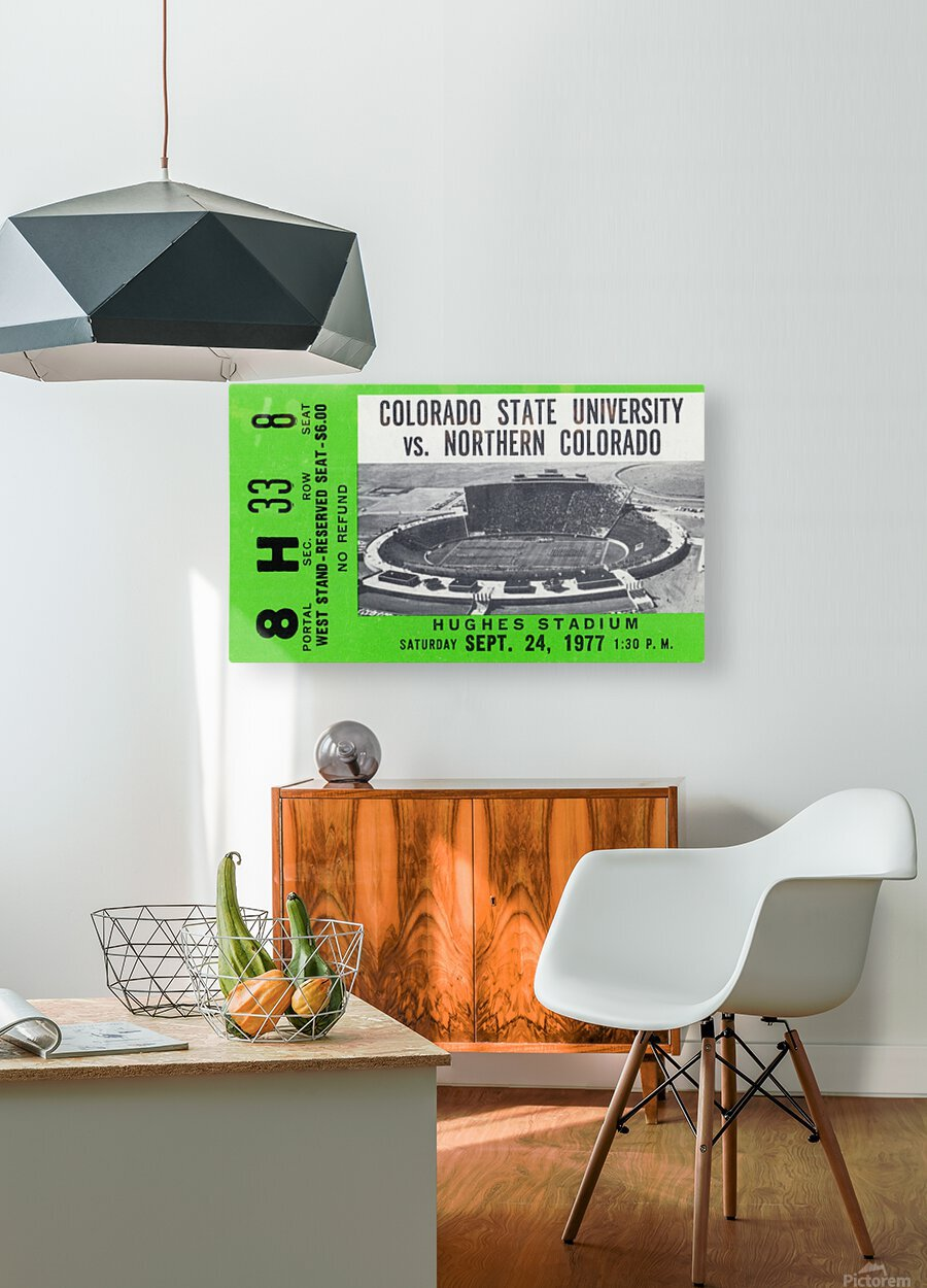 1977 Colorado State Rams vs. Northern Colorado  HD Metal print with Floating Frame on Back