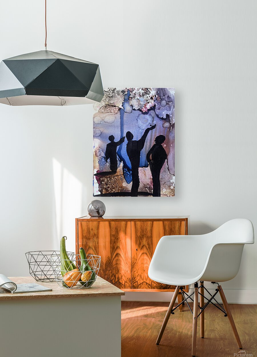 Is It Raining  HD Metal print with Floating Frame on Back