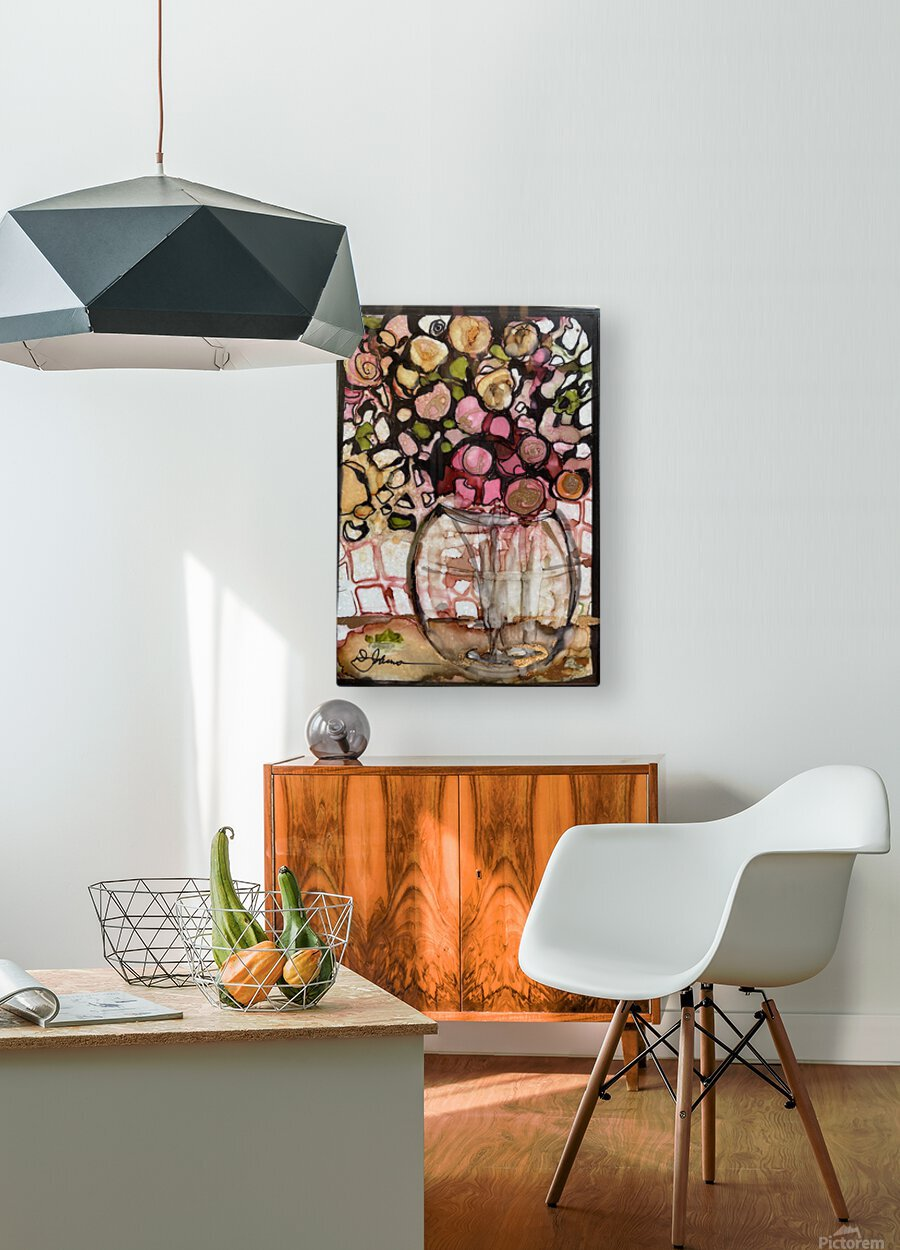 Floral Fun  HD Metal print with Floating Frame on Back