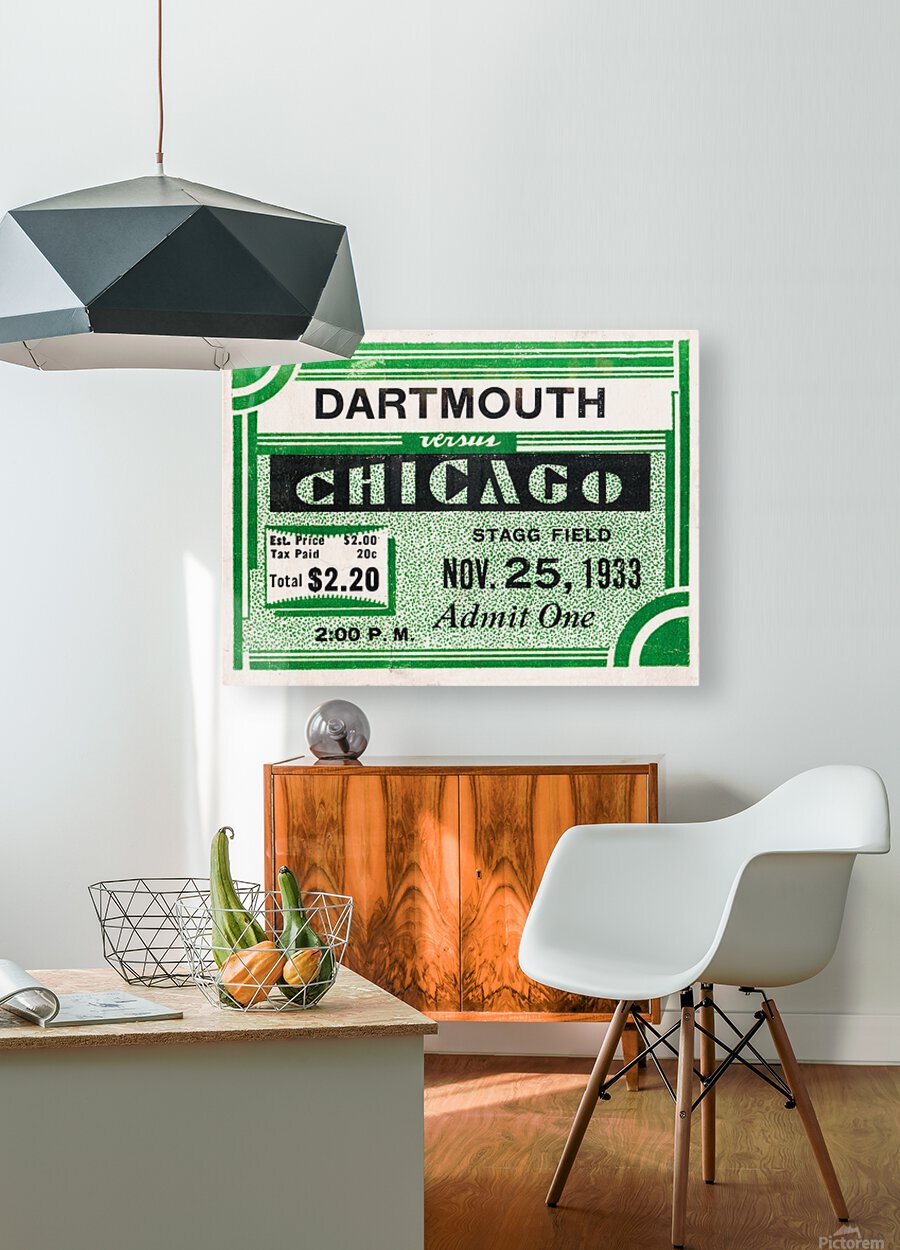 1933 Dartmouth Indians vs. Chicago Maroons  HD Metal print with Floating Frame on Back