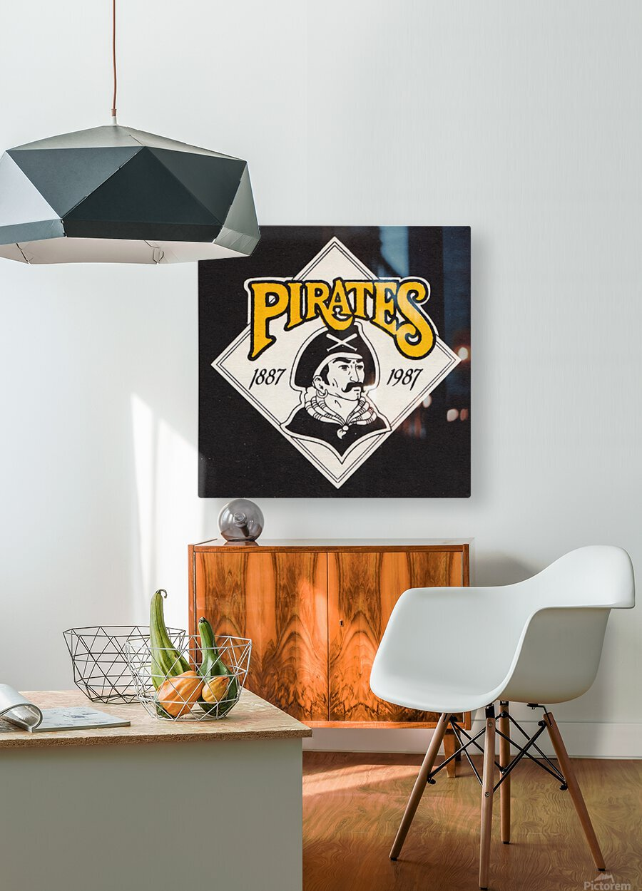 1988 Pittsburgh Pirates Retro Art  HD Metal print with Floating Frame on Back