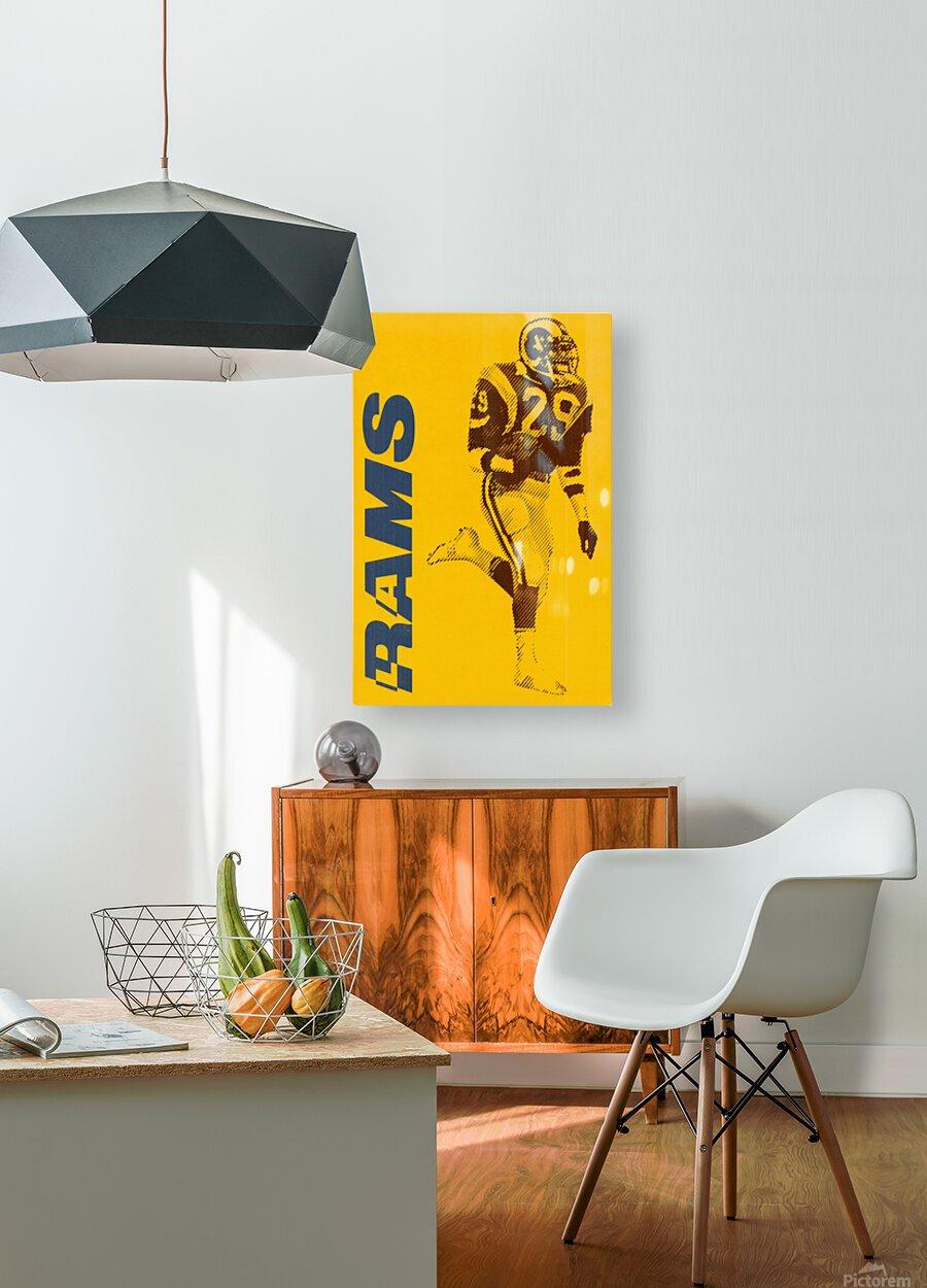 1986 LA Rams Football Art  HD Metal print with Floating Frame on Back