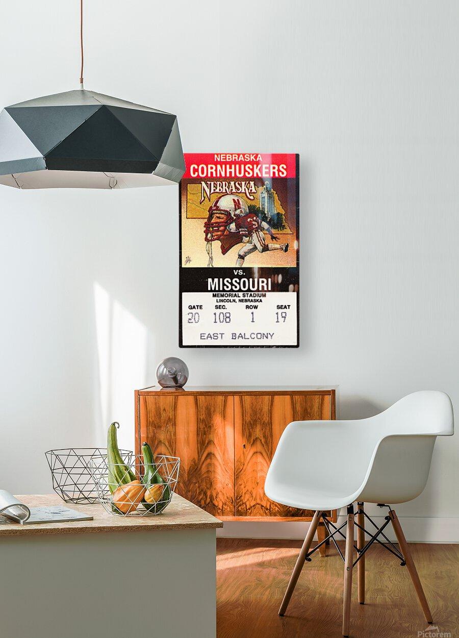 1988 Nebraska Cornhuskers vs. Missouri Tigers  HD Metal print with Floating Frame on Back